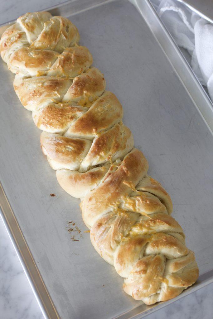 BRAIDED CHEESE ONION BREAD6 - BRAIDED CHEESE-ONION BREAD