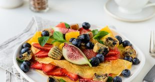 Fruit Omelette Blueberry Muffin Croutons 1 310x165 - Fruit Omelette & Blueberry Muffin Croutons