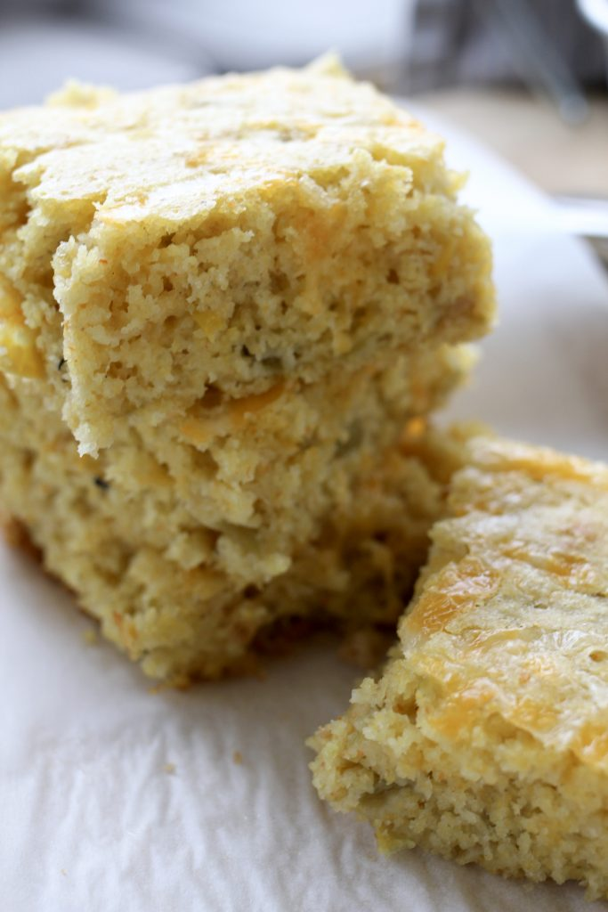 GREEN CHILE AND CHEESE CORNBREAD2 - GREEN CHILE AND CHEESE CORNBREAD