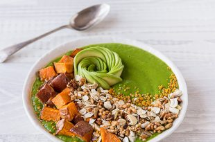Green Smoothie Sweet Potato Granola Bowl 1 310x205 - Green Smoothie, Sweet Potato & Granola Bowl