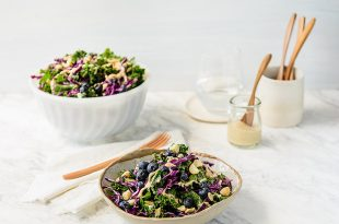 Macadamia Kale Blueberry Salad 4 310x205 - Macadamia, Kale & Blueberry Salad