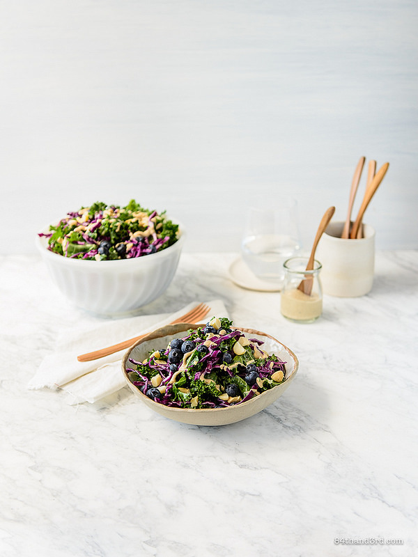 Macadamia Kale Blueberry Salad 4 - Macadamia, Kale & Blueberry Salad