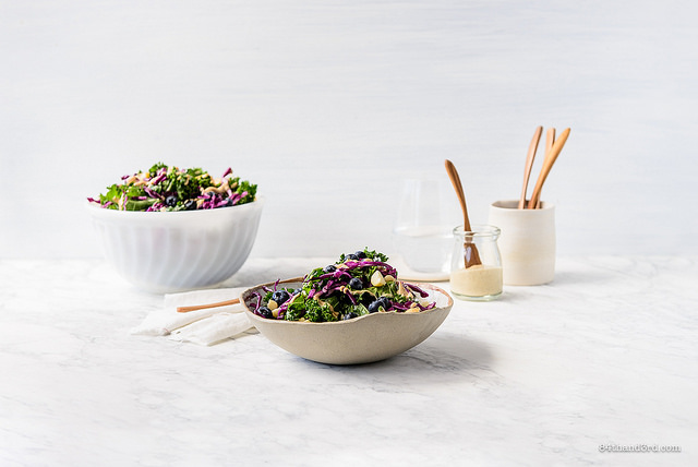 Macadamia Kale Blueberry Salad 58 - Macadamia, Kale & Blueberry Salad