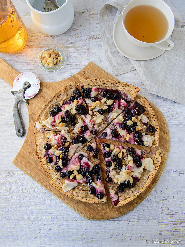 Nutty Blueberry Breakfast Pizza2 - Nutty Blueberry Breakfast Pizza