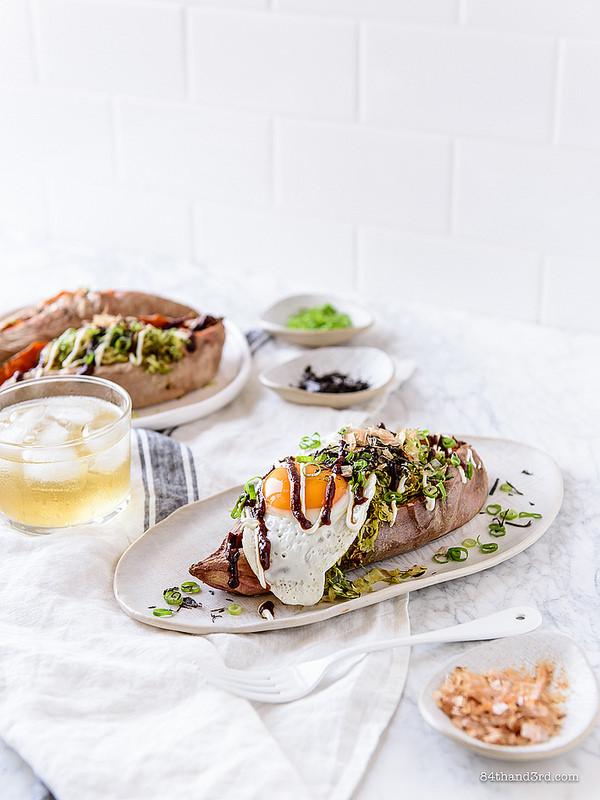 Okonomiyaki Stuffed Sweet Potato 1 - Okonomiyaki Stuffed Sweet Potato