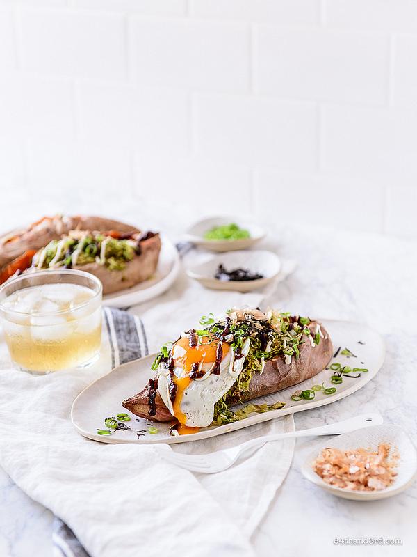Okonomiyaki Stuffed Sweet Potato 5 - Okonomiyaki Stuffed Sweet Potato